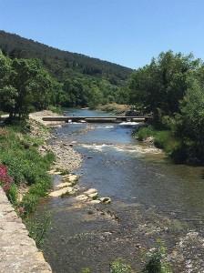 Lagrasse's river: l'Orbieu