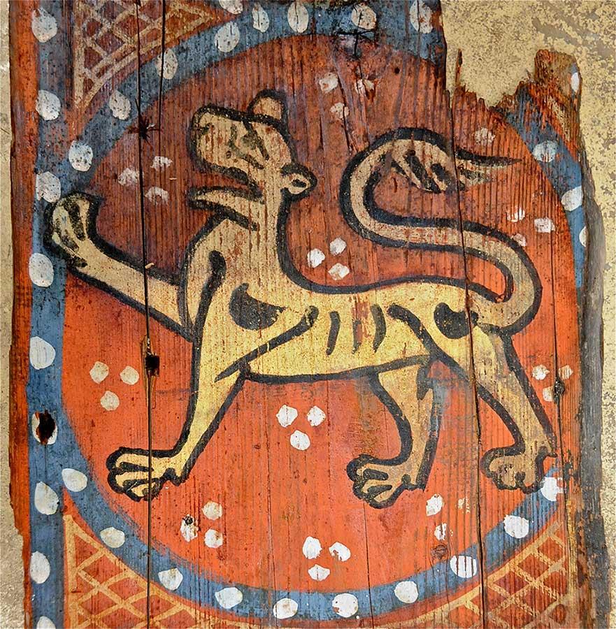 Peinture d'un lion