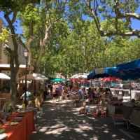 Brocantes in Lagrasse during the summer months