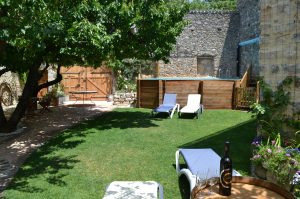 Relax in the garden with a glass or two!