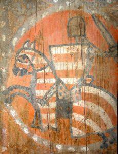 La restauration des peintures a fait renaître de nombreux chevaliers